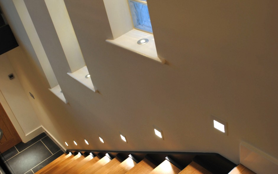 Lighting stairs by Luxplan