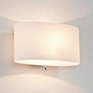 Oval Frosted Light - switched