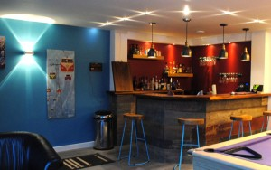 Bar Area in a Games Room