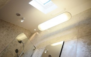 How to light a bathroom with high ceiling