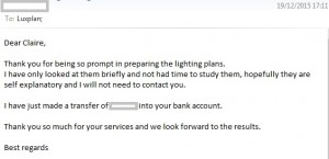 Client email - 5