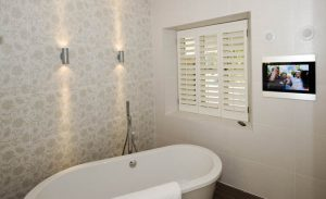 Lighting a bathroom with exterior lights